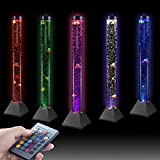 SUNFAY 3.9 ft Water Bubble Lamp with 7 Fish 15 Color Remote and Close...