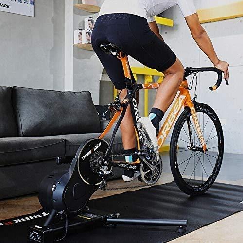 Direct Drive Intelligent vélo Trainer Exercice vélo d'intérieur Support Mountain & Route Portable Pliable Vélo Formation/magnétique Stand Flywheel, Quick-Release, avec Power Fun Zwift Pro Perf YZPJS