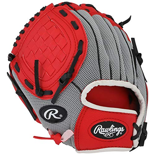 Rawlings Lefty Baseball Glove RED Pro 10 inches PL10SS Professional Tee Ball Pitcher Hand Players Series Leather Pocket Mitt Red Infield Left Hand Throw Catchers Gloves