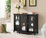 Kings Brand Furniture - Wood Storage Sideboard Buffet Cabinet Console...