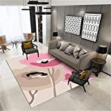 RUGMRZ Outlet Alfombras Patrón Abstracto Moderno y Simple, Suave y Resistente a la Suciedad, Buen Cuidado de la Sala de Estar, Dormitorio, Cocina, Pasillo, Alfombra, alfombr130X190CM/4ft 3''X6ft 3''