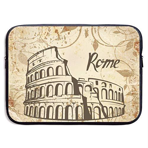 Rome Colosseum - Bolsas para portátil compatibles con Tableta Netbook de 15 ″, maletín con Funda de Pringting, Funda para Bolso de Transporte