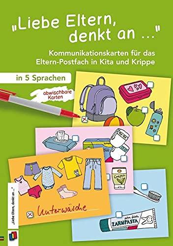 """""""Liebe Eltern, denkt an …"""": Kommunikationskarten für das Eltern-Postfach in Kita und Krippe – in 5 Sprachen"""