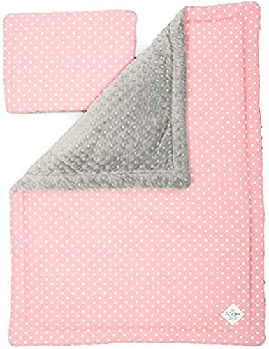 Fun with mum JUN-BLA-SET-L-PIN-DOT Junior Decke Set - Rosa Dots