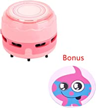 FineInno Mini Vacuum Cleaner DIY Cover Desktop Sweeper Handheld Cordless Multifunction Cleaning for Home Office Car (pink)