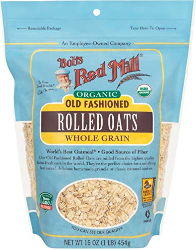 Bob#039s Red Mill Organic Oats Rolled Regular  16 oz