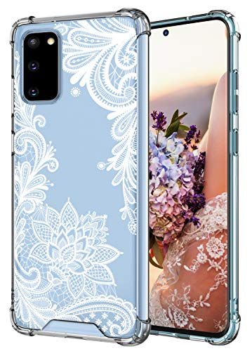 Cutebe Case for Galaxy S20, Shockproof Series Hard PC+ TPU Bumper Protective Case for Samsung Galaxy S20 6.2 Inch 2020 Release Crystal