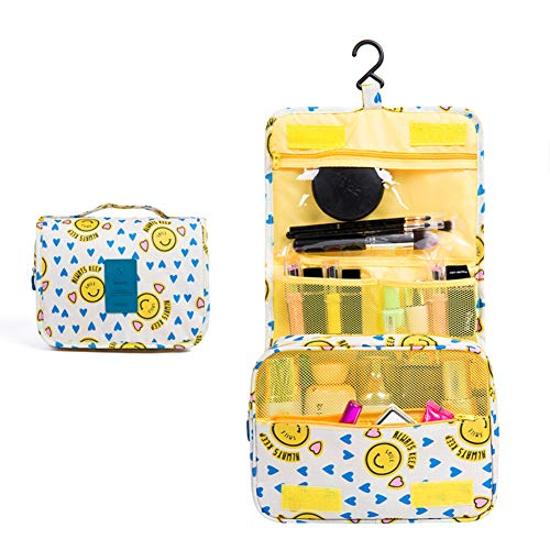 Sechunk Waterproof Travel Toiletry Bags Hanging Multi-function Cosmetic Bag Makeup Bag for Women (yellow)