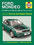Ford Mondeo Petrol and Diesel Service and Repair Manual: 2000 to 2003 (Haynes Service and Repair Manuals) by Haynes Publishing (author)(2003-09-01)