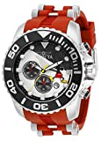 Invicta Men's Disney Limited Edition Quartz Watch with Silicone, Stainless Steel Strap, Red, Silver, 26 (Model: 32471)