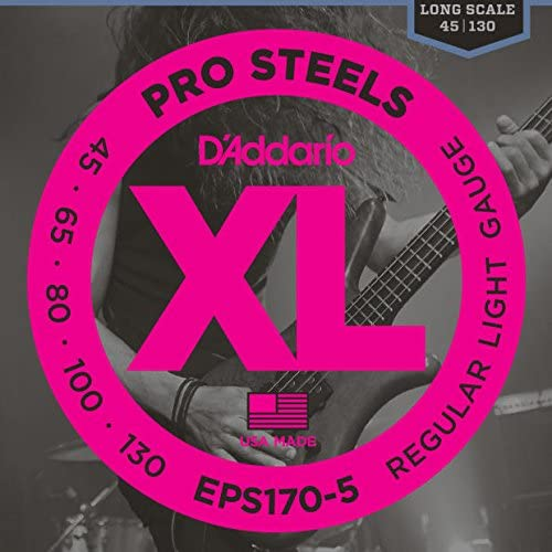 D'Addario Outlet sale feature EPS170-5 High order Bass Guitar Strings Set 1 -