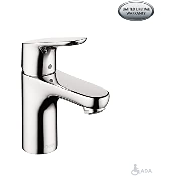 hansgrohe Focus  Modern 1-Handle  7-Inch Tall Bathroom Sink Faucet in Chrome, 04371000