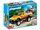 Playmobil - 4228 - Pick-up et quad de course rouge