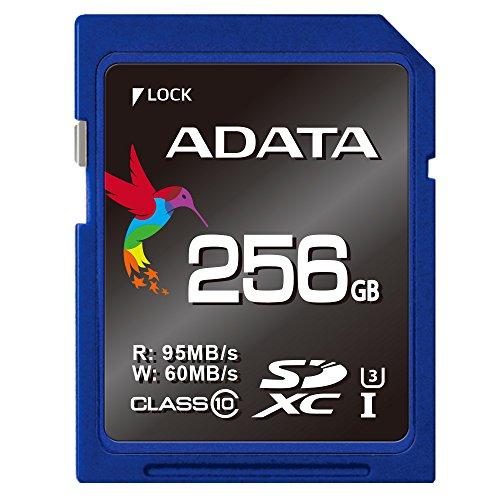 ADATA ASDX256GUI3CL10-R Premier Pro SDXC Class 10 UHS-I U3 Tarjeta de Memoria