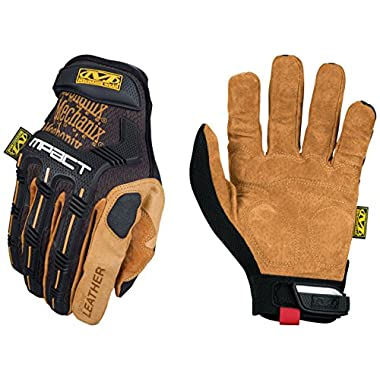 Mechanix Wear - Leather M-Pact Gloves (Medium, Black/Brown)