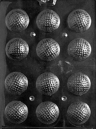 3D Golf Balls Chocolate Candy Mold - 3 Count by PREEGLE
