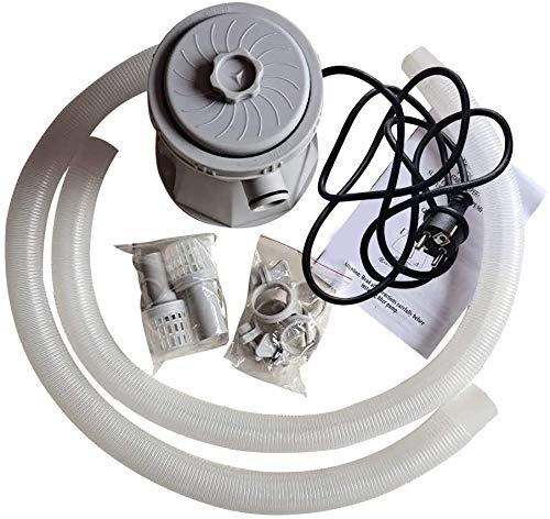 Homefurnishing Depuradora de Filtro de Cartucho de Piscina Bomba de Filtro Eléctrico 20W para Piscinas sobre el Suelo Bañera de Hidromasaje Jardín