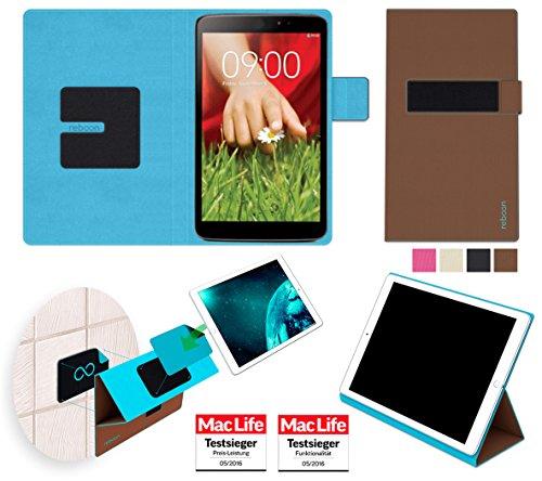 reboon Hülle für LG G Pad 8.3 Tasche Cover Case Bumper | in Braun | Testsieger