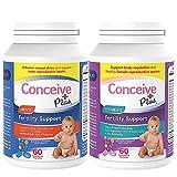 Conceive Plus His + Hers Fertility Support Prenatal Vitamins Bundle for Couples