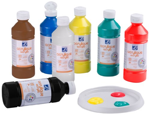 Lefranc & Bourgeois - Pack de acrílico líquido, 10 frascos de 500 ml