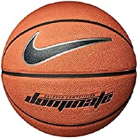 Nike Mens Dominate Basketball (Amber/Black/Metallic Platinum)