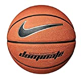 Nike Dominate 8P Basket-Ball Mixte Adulte, 847 Amber/Black/Metallic Plati, Taille 7