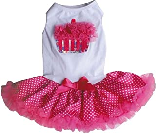 Hotpink / White Cupcake Petti Dress for Dogs