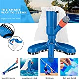 sunzhenhao Pool Spa Jacuzzi Pond Jet Vac Vacuum Cleaner w Brush, Bag, and 4 Pole Manual Handheld Swimming Pool...
