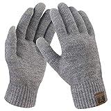 Bequemer Laden Damen Winter Warme Touchscreen Handschuhe Mittel Grau