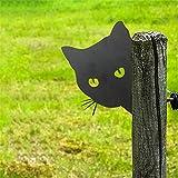 LoveLeiter Gartendeko Rost Katze, Schwarze Katzen-Silhouette, Metall-Statuen,Stecker Katze Rost Deko Gartenstecker Baumstecker Rost Metalldeko Tierpfähle für Hof-Dekoration und Rasen-Ornamente