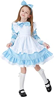 9b4f5b2d37820 Filles Halloween Maid Dress Costume Enfants Maidservant Cosplay Déguisement  Uniforme