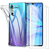 Garegce Coque Compatible avec Huawei P30 Lite/P30 Lite XL New Edition, 2 x Verre trempé Protecteur...