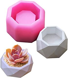 Warmshine Creative Geometric Polygonal Mold Concrete Flower Pot Vase Silicone Mold Office Decoration DIY Clay Cementsilica Silicone Mold