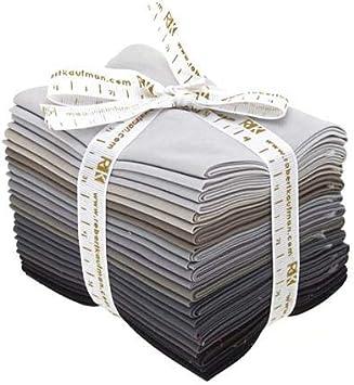 12 Pcs Fat Quarter Bundle KONA Cotton Solids Cookie Cutter Designer Palette by Jaybird Quilts Robert Kaufman
