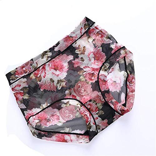 LTHH Frauen Sexy Printed Mesh Panties, Schwarz