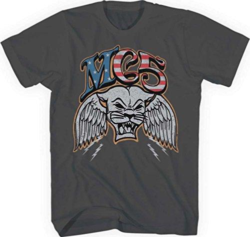 MC5 - Herren-Panther T-Shirt, Small, Charcoal