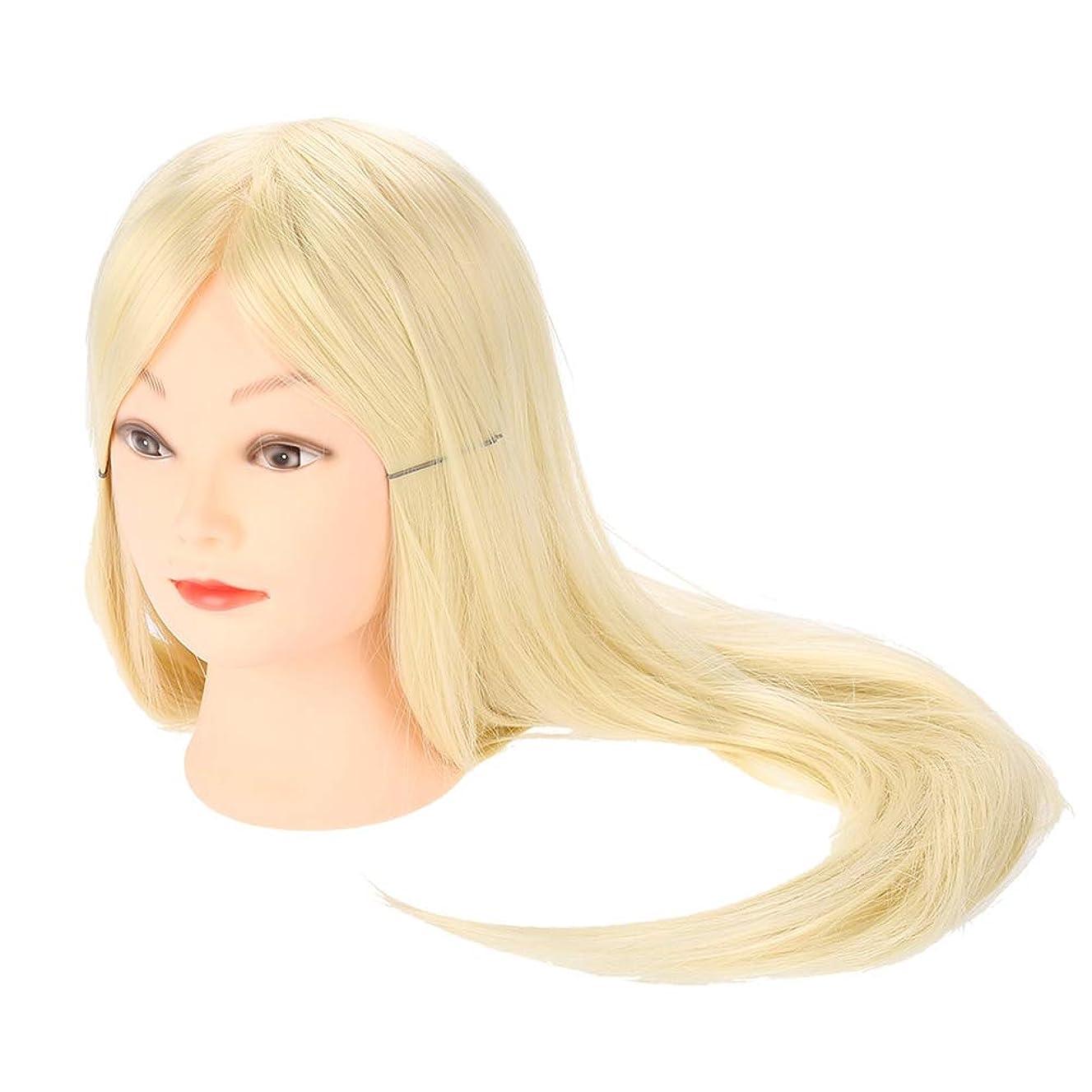 編み込み練習用 モデルロングヘア理髪 編組セットツール 美容室サロン ウィッグマネキンヘッド メイクトレーニング用 ヘア編み込み ダミーヘッド レディウィッグ レディー