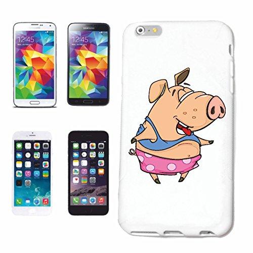 Bandenmarkt telefoonhoes compatibel met Huawei P9 varken bij het dansen in schelpshirt en zwembroek huiszwijnen wartsvarken wildvarken minischwijn zwevende ve