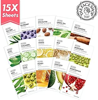 The Face Shop UPGrade! Real Nature Mask Sheet Moisture Mask Pack 15 Types (Total 15pcs)