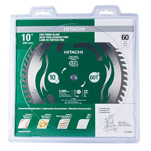 "Hitachi 115435 10"" 60T Fine Finish VPR Miter Saw Blade"