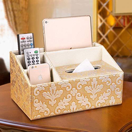 MUZIDP Caja de pañuelos decoración multifunción caja de pañuelos sala de estar mesa de café caja de almacenamiento de control remoto creativo simple caja de papel 29.5x18x15cm caja de pañuelos