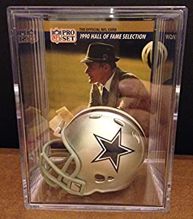 Dallas Cowboys Throwback NFL Helmet Shadowbox w/ Tom Landry card