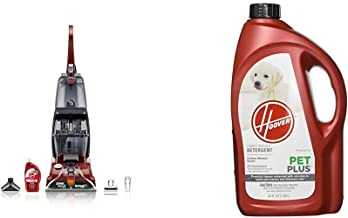 Hoover Power Scrub Deluxe Carpet Washer FH50150 & PETPLUS Concentrated Formula, 64oz Pet Stain and Odor Remover, AH30320, ...