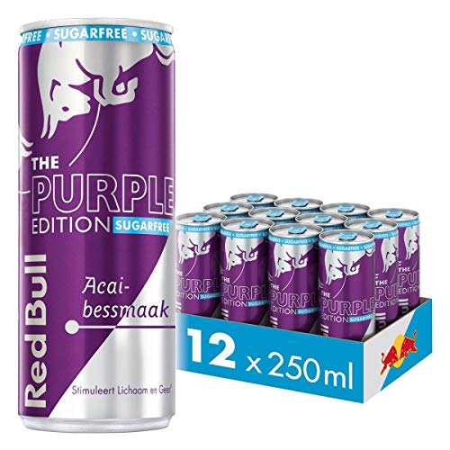 Red Bull Energy drink édition poire, sans sucre 12x25cl