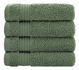 American Bath Towels Juego de toallas de baño de algodón turco para el hogar y la cocina, extra suave y absorbente, juego de 4 piezas