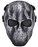 Fansport Paintball Mask Skeleton Mask Full Face Protection Airsoft Game Mask