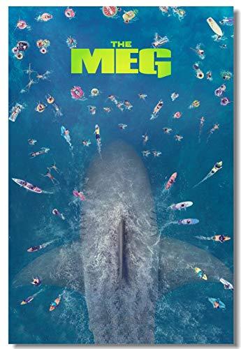 MXLYR Wandtattoo Benutzerdefinierte Leinwand Wanddekoration Poster Meg Aufkleber Shark Jaw Wallpaper Wohnzimmer Esszimmer Dekoration