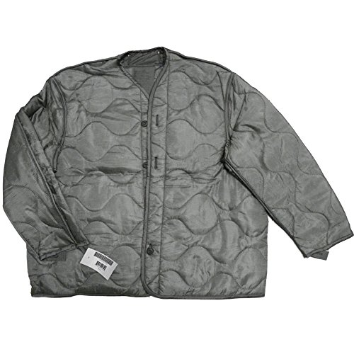 Foliage Green Quilted M-65 Field Jacket Liner, U.S. Army Cold Weather Coat Insert (X-Large)