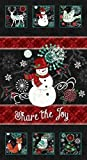 Kreidetafel mit weihnachtlichen Schneemann aus Baumwolle