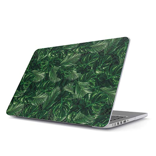 BURGA Hard Case Cover Compatible With Macbook Pro 13 Inch Case Model: A2159 / A1989 / A1706 / A1708 With or Without Touch Bar Tropical Exotic Summer Green Palm Tree Leaf Nature Plant Leaves